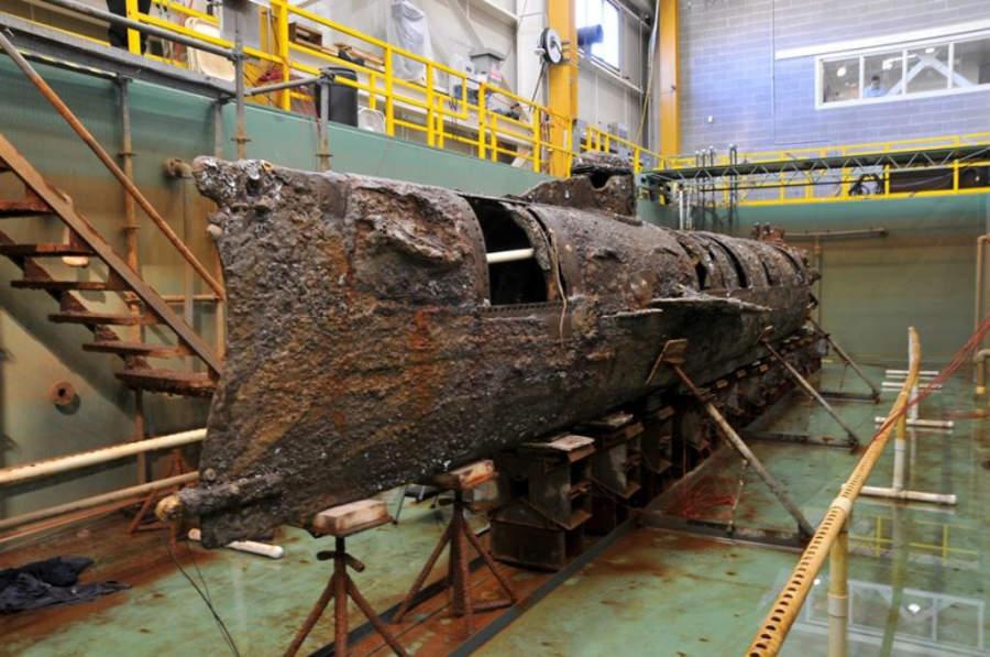 El museo HL Hunley Submarine se encuentra en la Antigua Base Naval de Charleston