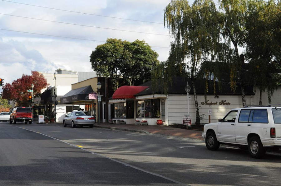 Antigua calle principal en la ciudad de Bellevue