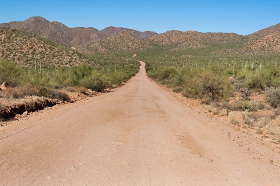 Camino Apache entre Phoenix y Globe