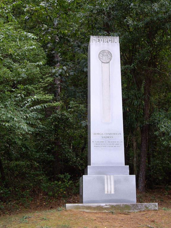 Monumento a los Soldados Confederados en Kennesaw, Georgia