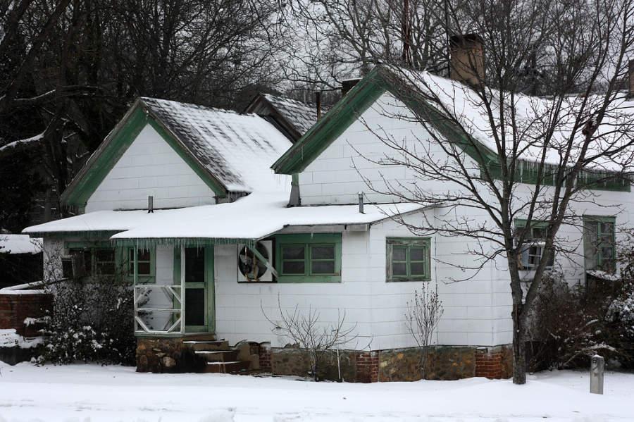 Casa antigua en la ciudad de Kennesaw, Georgia