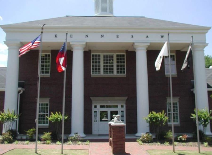 Palacio Municipal de Kennesaw en el estado estadounidense de Georgia