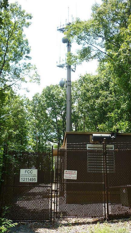 Antenna Tower and Transmitting Shack at Kennesaw Mountain