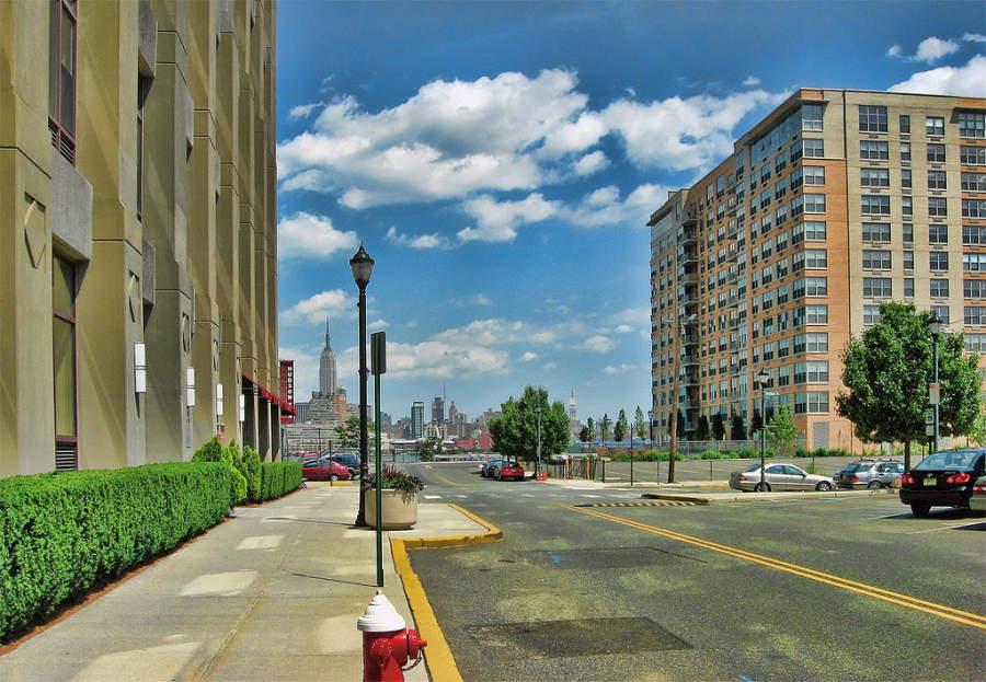 Vista de Manhattan desde el centro de Hoboken