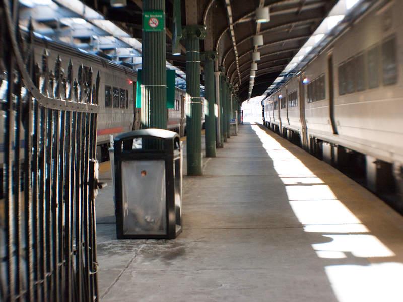 Interior de la Terminal Hoboken, en el estado estadounidense de Nueva Jersey