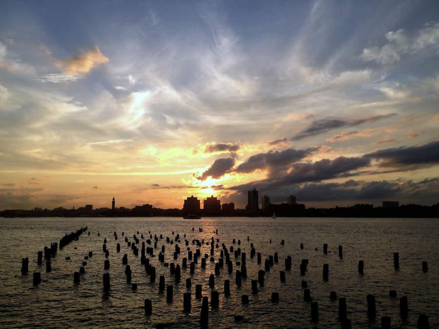 Atardecer sobre la ciudad de Hoboken