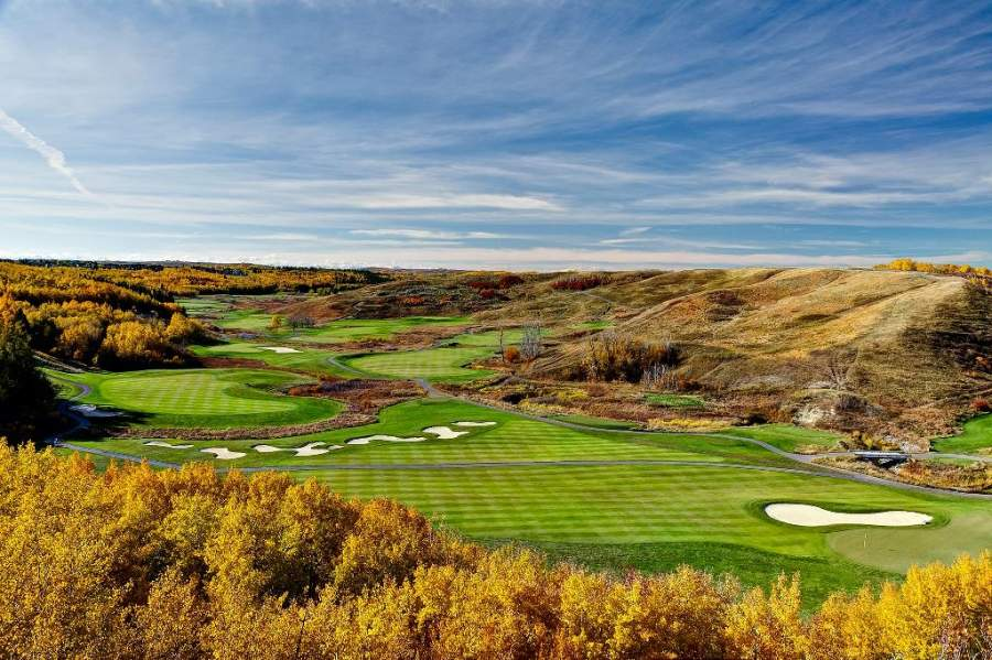 Campo del Heritage Pointe Golf Club en Calgary