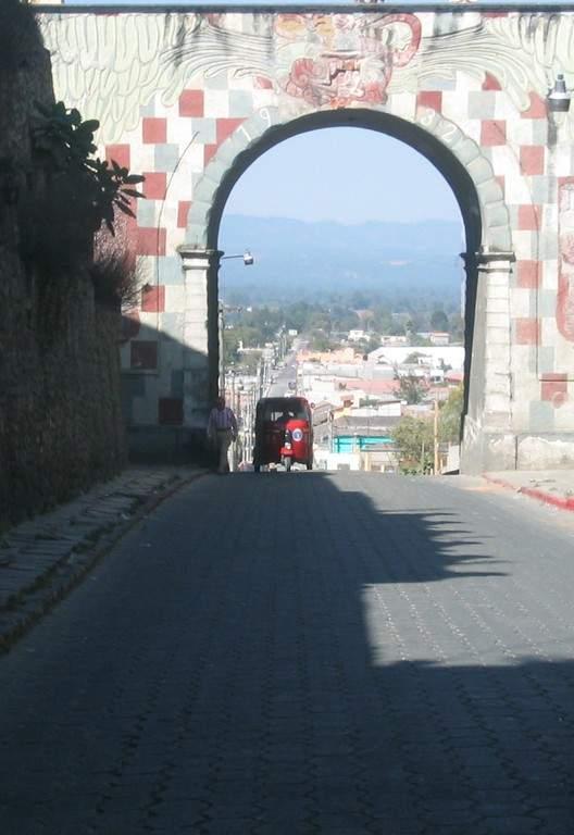 Avenida en Chichicastenango