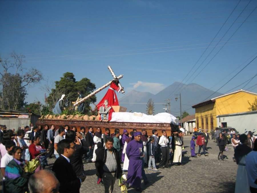 Las celebraciones de Semana Santa son muy populares en San Pedro Las Huertas