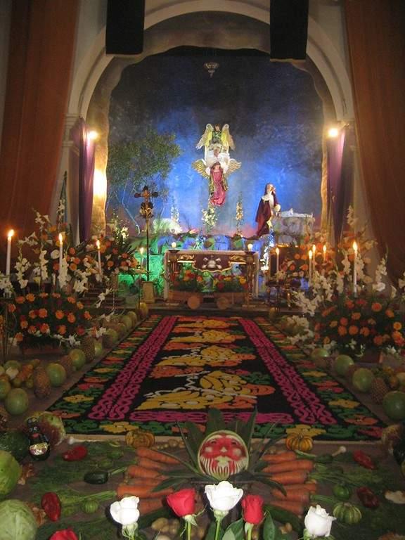 Interior del templo en San Pedro Las Huertas