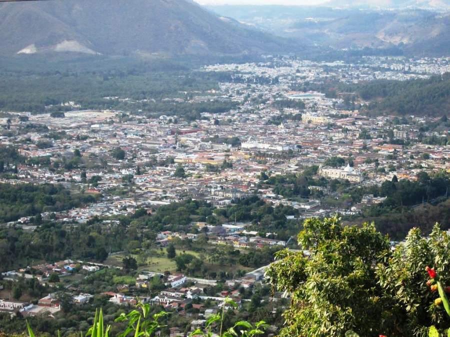 Vista panorámica del pueblo San Pedro Las Huertas