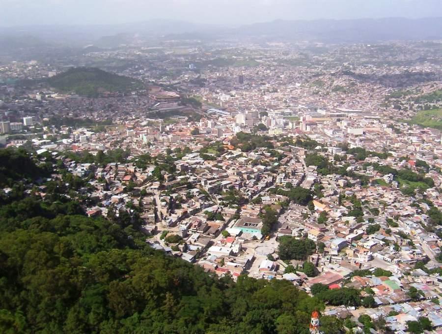 Vista panorámica de la ciudad de Tegucilgalpa