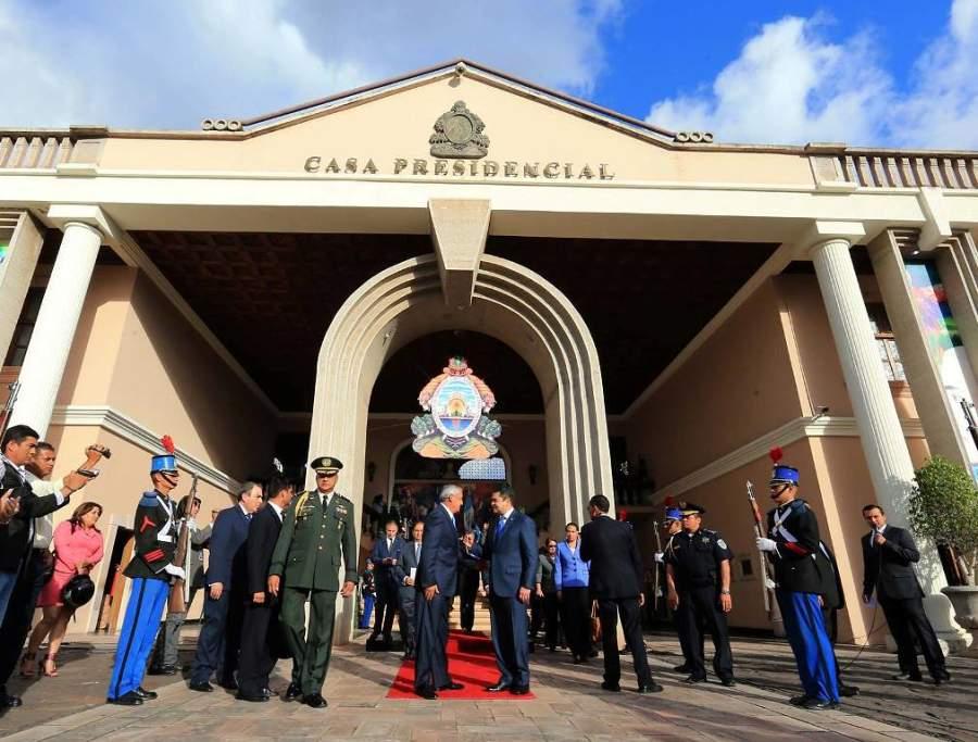 Casa presidencial en el centro de Tegucigalpa