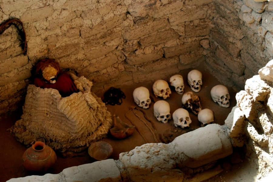 El Cementerio de Chauchilla se ubica a 10 kilómetros de Nazca