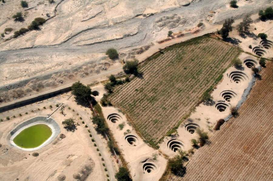 Sorpréndete con los acueductos centenarios en Nazca
