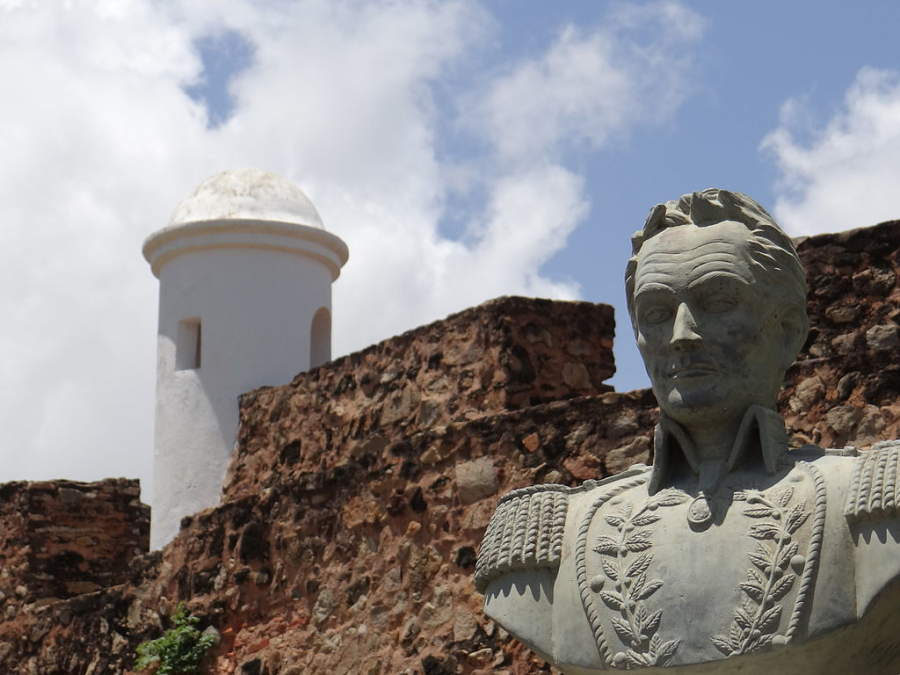 Busto de Simón Bolívar en el Fortín Zamuro