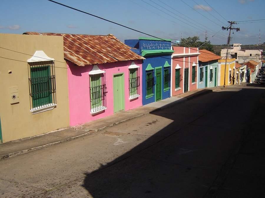 Casas en el centro histórico de Ciudad Bolívar