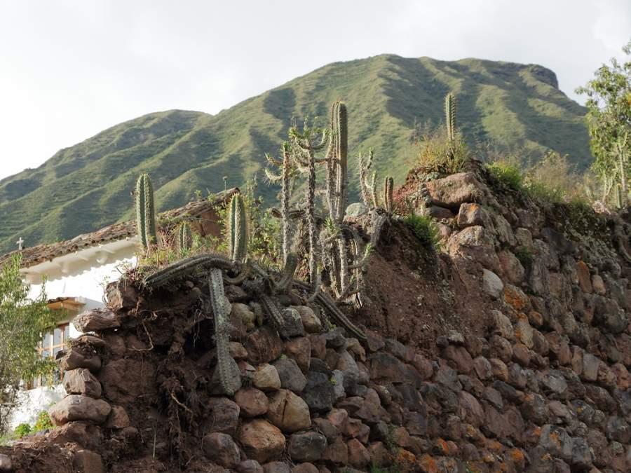 Vista del nevado Chicón desde la ciudad de Urubamba en Perú