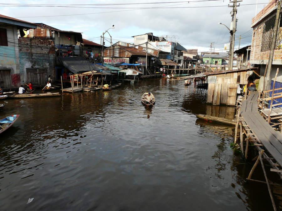 Un canal en el barrio de Belén