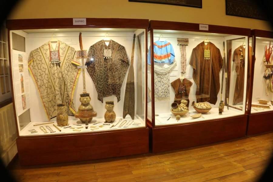 Interior del Museo de Culturas Indígenas Amazónicas