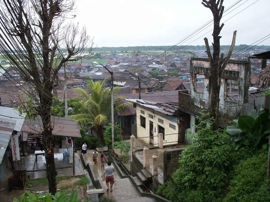 Vista general del barrio de Belén en Iquitos