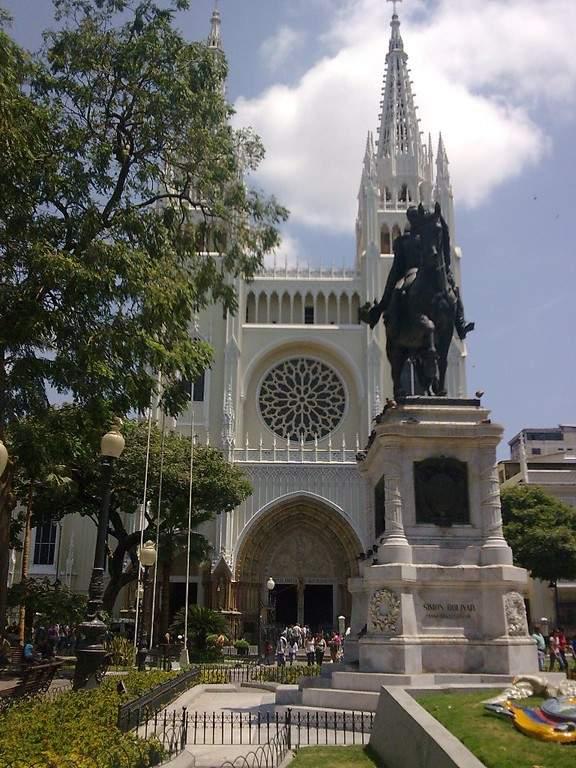 Parque Seminario o Parque de las Iguanas en la ciudad de Guayaquil