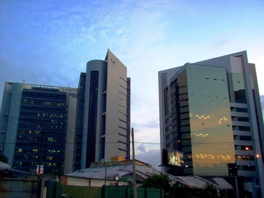 Edificios modernos en Guayaquil