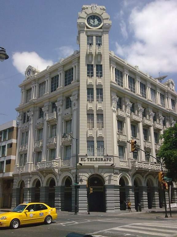 Antiguo edificio sede del Diario El Telégrafo en Santiago de Guayaquil