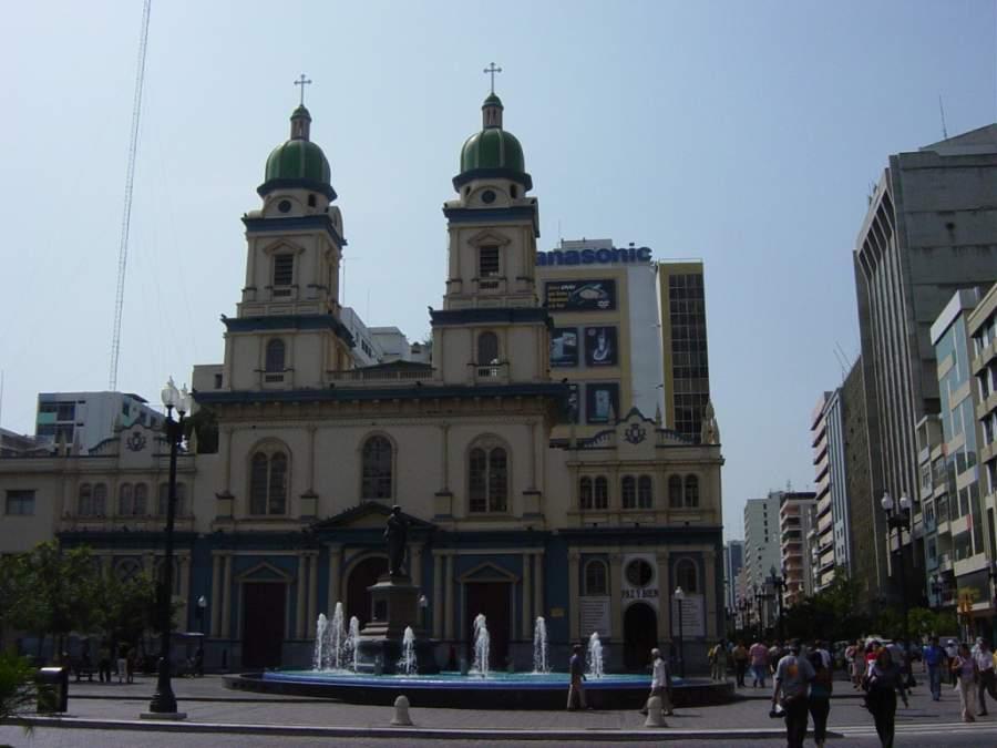 Vista exterior de la Iglesia de San Francisco en Guayaquil