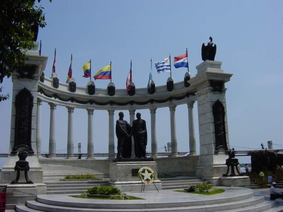 Hemiciclo de La Rotonda en el Malecón 2000 en Guayaquil