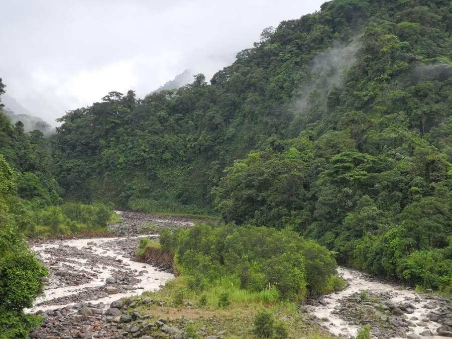 Un río en el Parque Nacional Braulio Carrillo