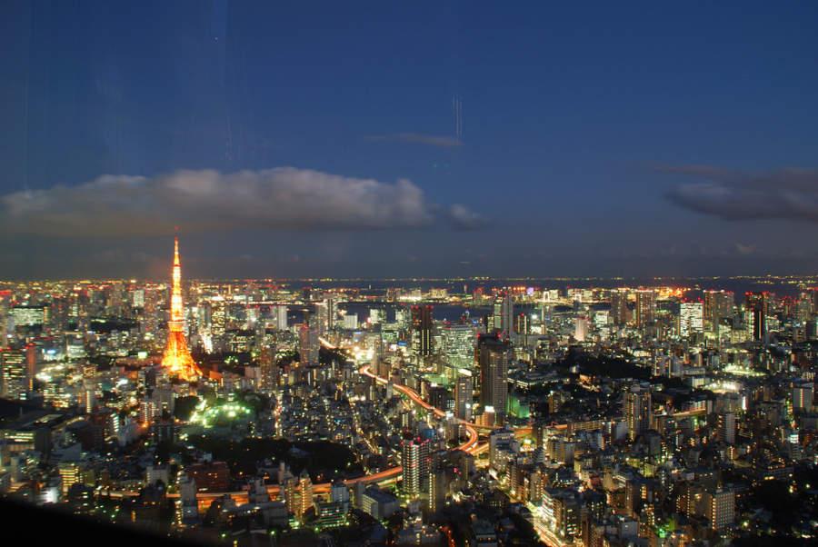 Paisaje nocturno de Tokio