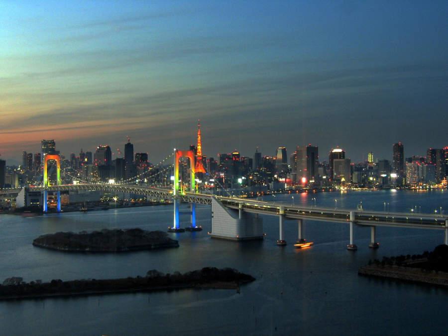 Vista de la bahía de Tokio