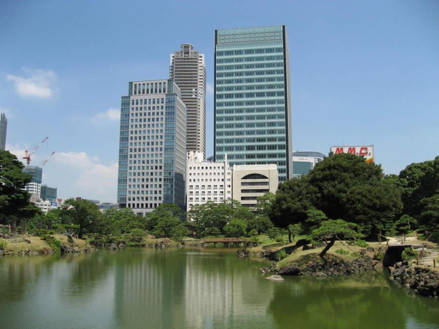 Tokio esta lleno de áreas verdes como el Parque Shiba