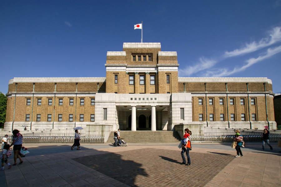 El Museo Nacional de Ciencia de Japón forma parte del complejo del Parque Ueno