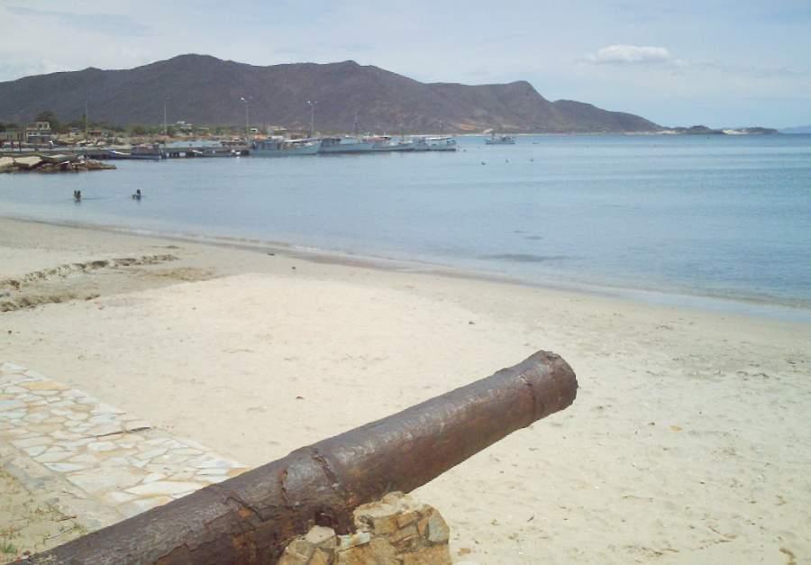 Vista de la playa en Juan Girego