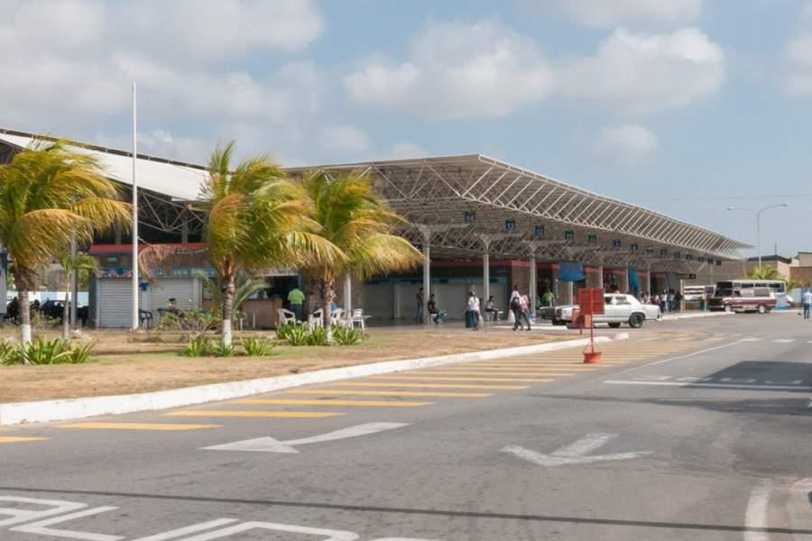 Estación de autobuses en Juan Griego