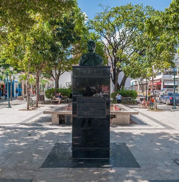 Busto de Simón Bolívar en Juan Griego