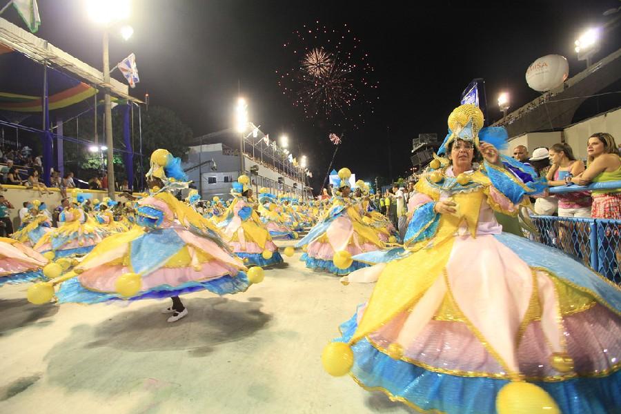 Bailarinas bahianas en el carnaval