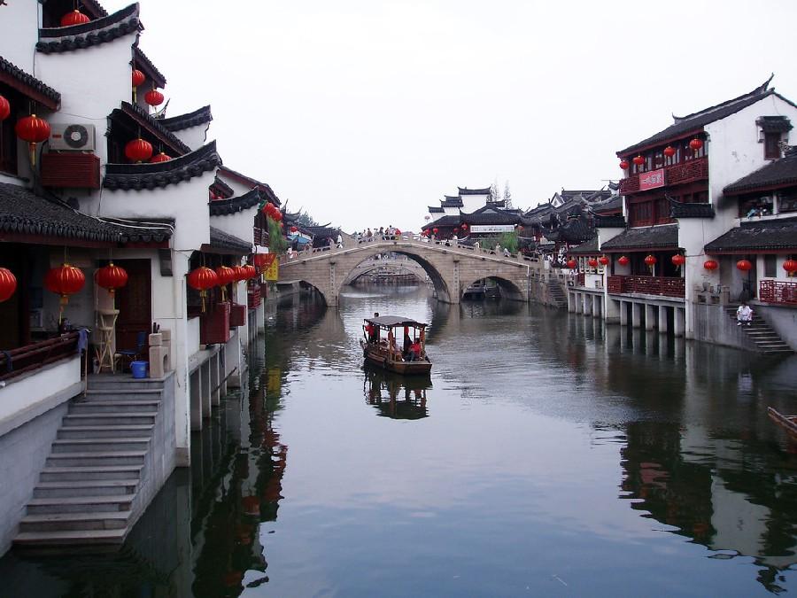 Pueblo tradicional en Shanghái