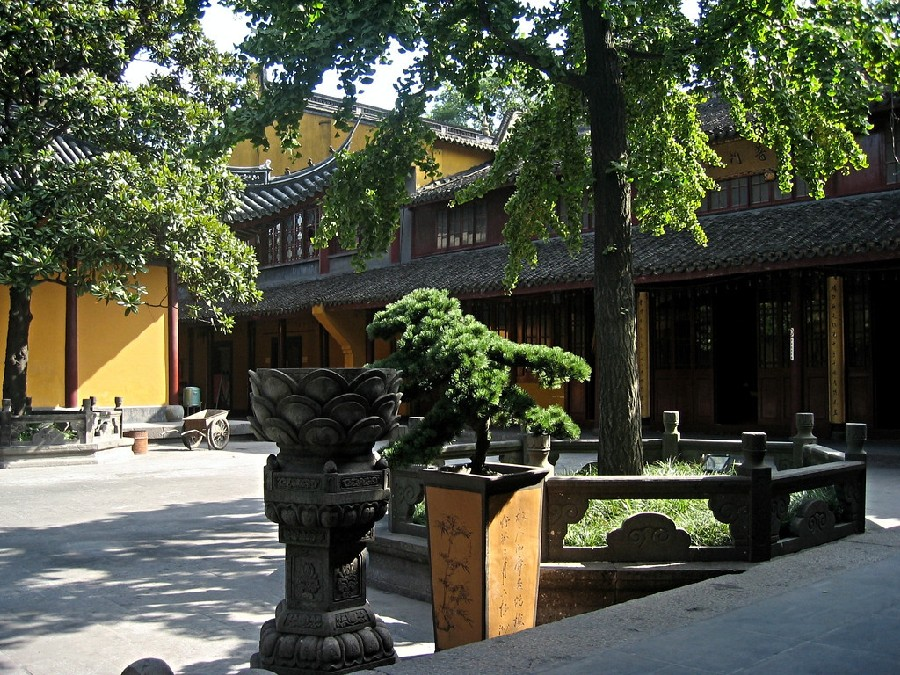 Patio interior del Templo de Longhua