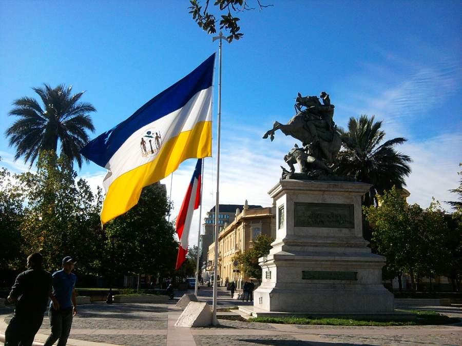La Plaza de los Héroes en Rancagua tiene forma de cruz