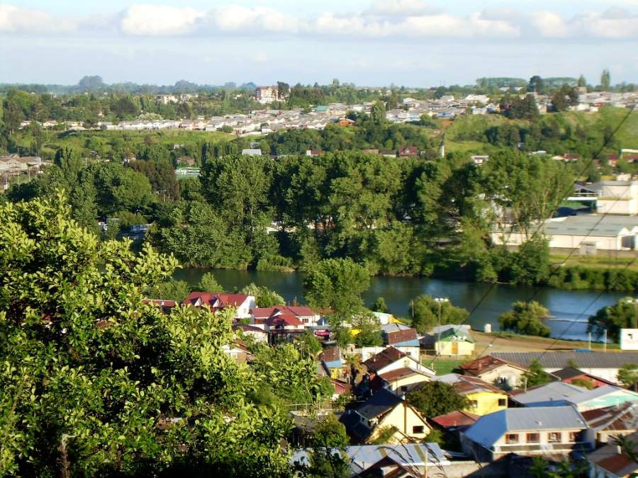 La ciudad de Osorno se extiende en los alrededores del río Rahue