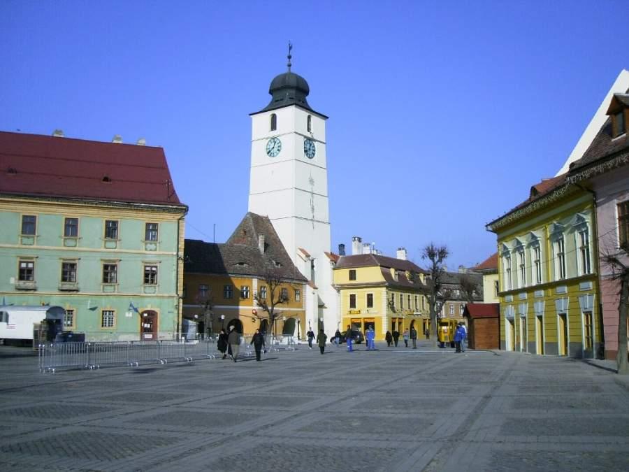 Plaza Mayor en Sibiu