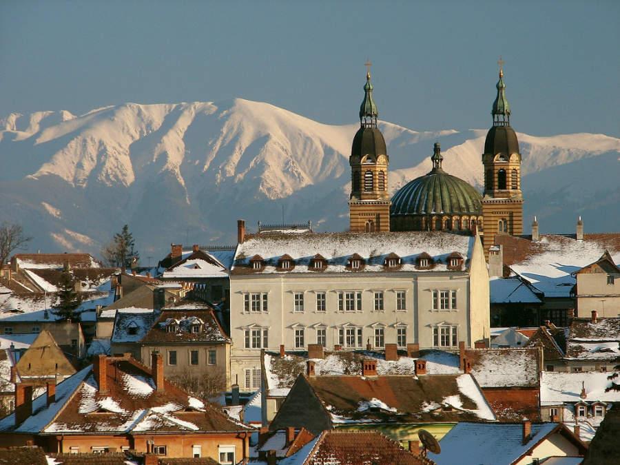 Vista panorámica de la ciudad de Sibiu