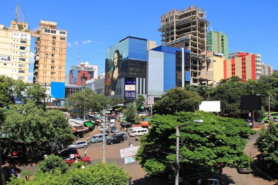 Vista del centro en Ciudad del Este