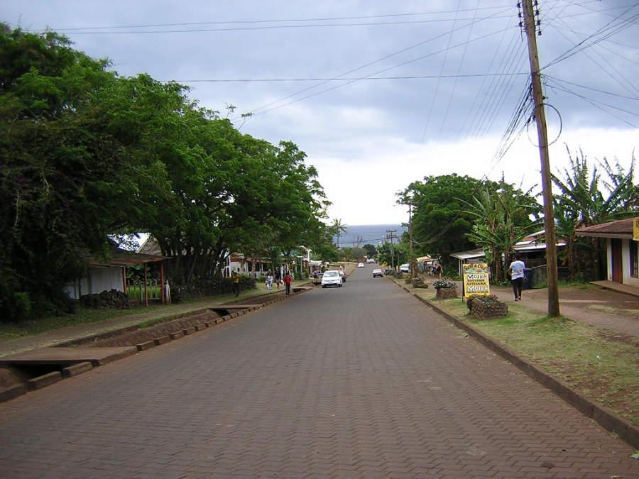 Calles típicas de Hanga Roa