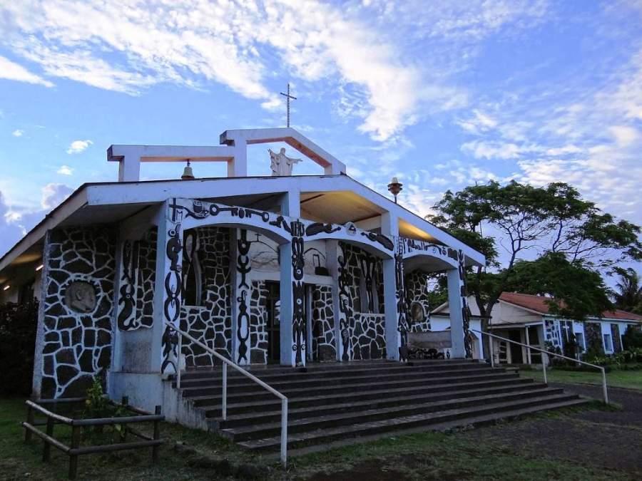 La iglesia de la Santa Cruz ofrece una muestra de sincretismo religioso