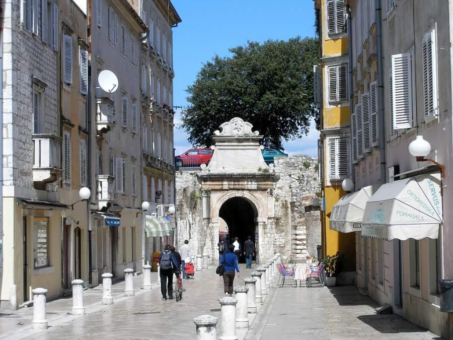 La Puerta del Mar en Zadar