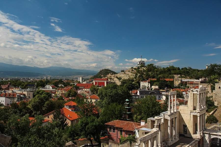 Una de las siete colinas de Plovdiv